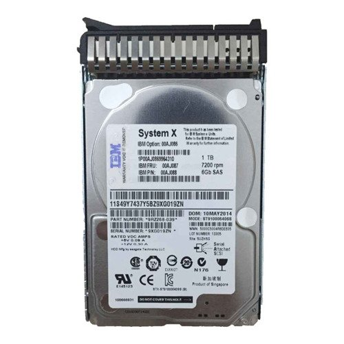 Hard Disc Drive dedicated for Lenovo server 2.5'' capacity 1TB 7200RPM HDD SAS 6Gb/s 00AJ141