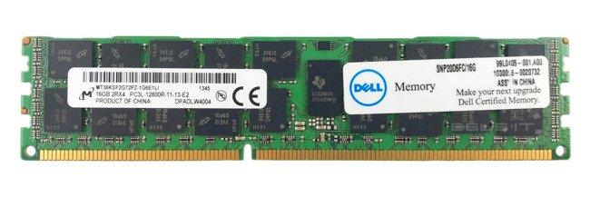 Memory RAM 1x 16GB Micron ECC REGISTERED DDR3  1600MHz PC3-12800 RDIMM   MT36KSF2G72PZ-1G6