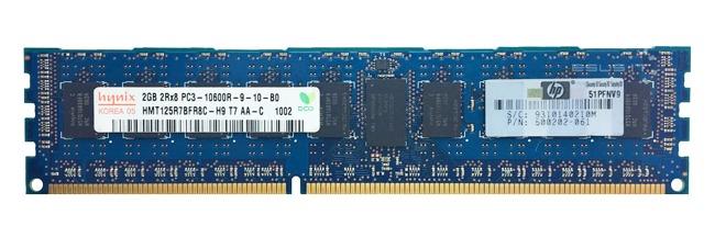 Memory RAM 1x 2GB Hynix ECC REGISTERED DDR3  1333MHz PC3-10600 RDIMM | HMT125R7BFR8C-H9