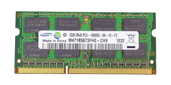 Memory RAM 1x 2GB Samsung SO-DIMM DDR3 1333MHz PC3-10600 | M471B5673FH0-CH9