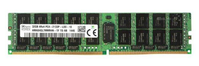 Memory RAM 1x 32GB HP Proliant & Workstation DDR4 2133MHz ECC LOAD REDUCED DIMM | 752372-081
