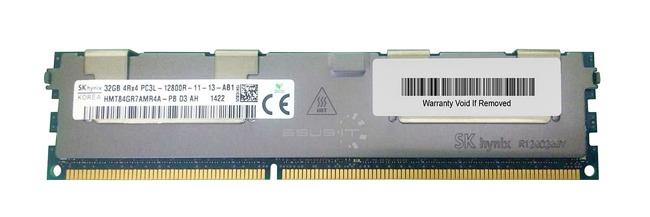 Memory RAM 1x 32GB Hynix ECC REGISTERED DDR3  1600MHz PC3-12800 RDIMM   HMT84GR7AMR4A-PB