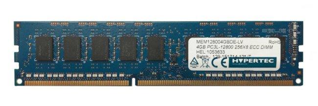 Memory RAM 1x 4GB HYPERTEC ECC UNBUFFERED DDR3  1600MHz PC3-12800 UDIMM   MEM128004GBDE-LV