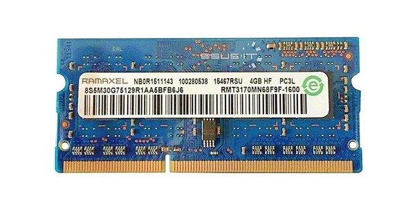 Memory RAM 1x 4GB Ramaxel SO-DIMM DDR3 1600MHz PC3-12800 | RMT3170MN68F9F