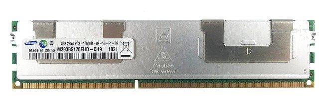 Memory RAM 1x 4GB Samsung ECC REGISTERED DDR3  1333MHz PC3-10600 RDIMM   M393B5170FHD-CH9