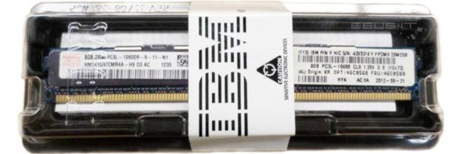 Memory RAM 1x 8GB IBM ThinkServer & System X DDR3 1333MHz ECC REGISTERED DIMM   00D4981
